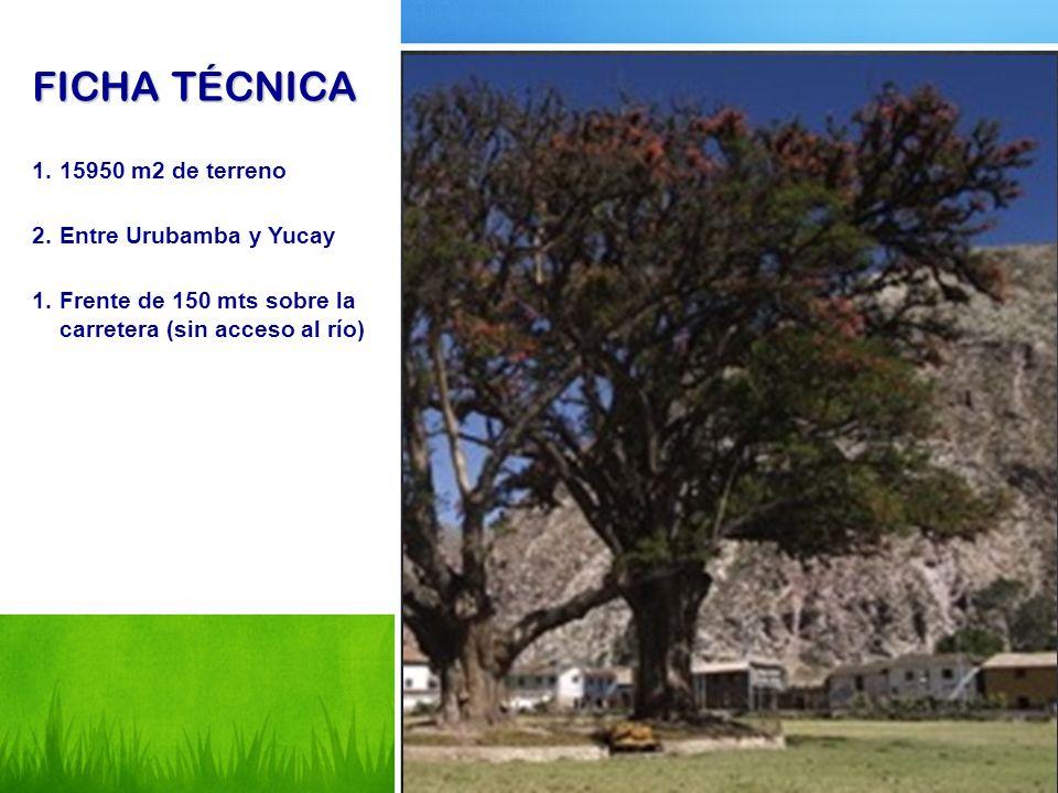 FICHA TÉCNICA 15950 m2 de terreno Entre Urubamba y Yucay