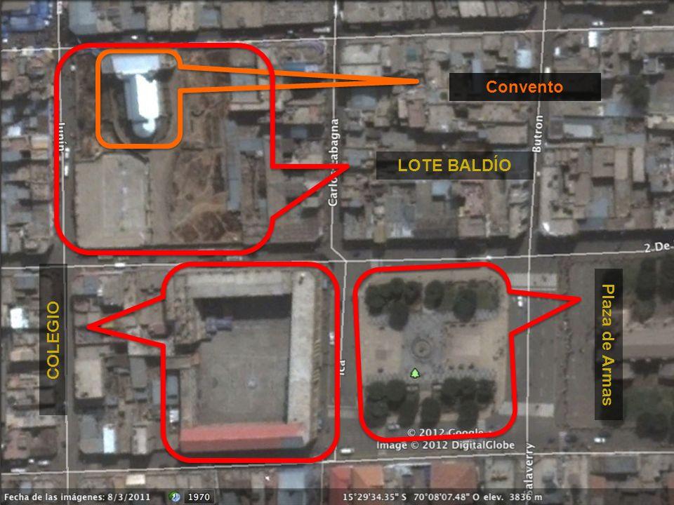 Convento LOTE BALDÍO COLEGIO Plaza de Armas