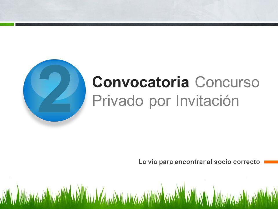 Convocatoria Concurso Privado por Invitación