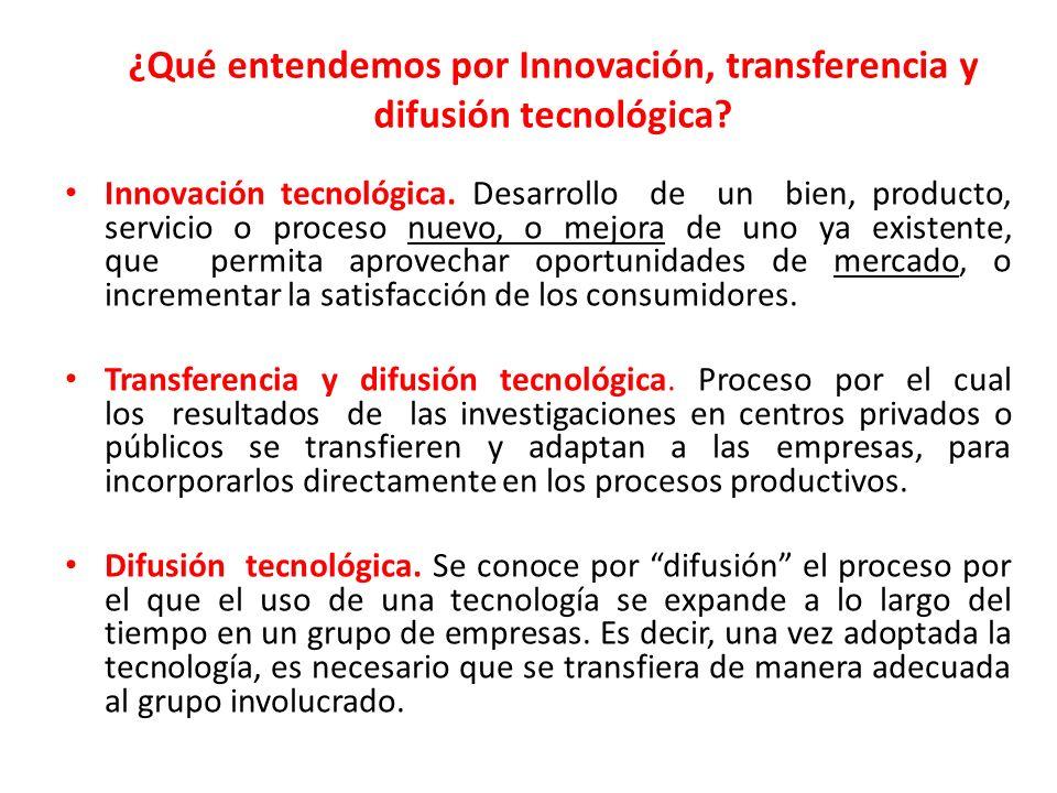 ¿Qué entendemos por Innovación, transferencia y difusión tecnológica