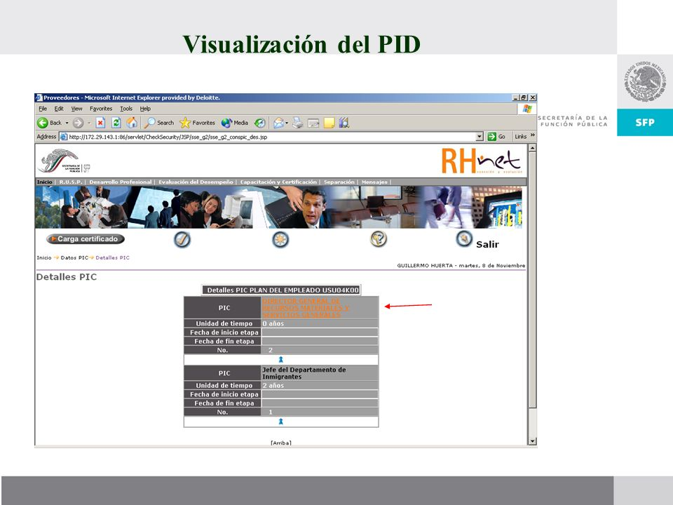 Visualización del PID