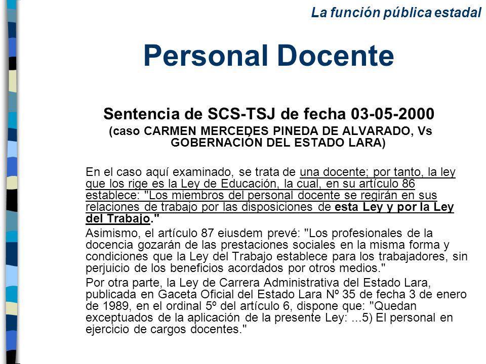 Sentencia de SCS-TSJ de fecha 03-05-2000