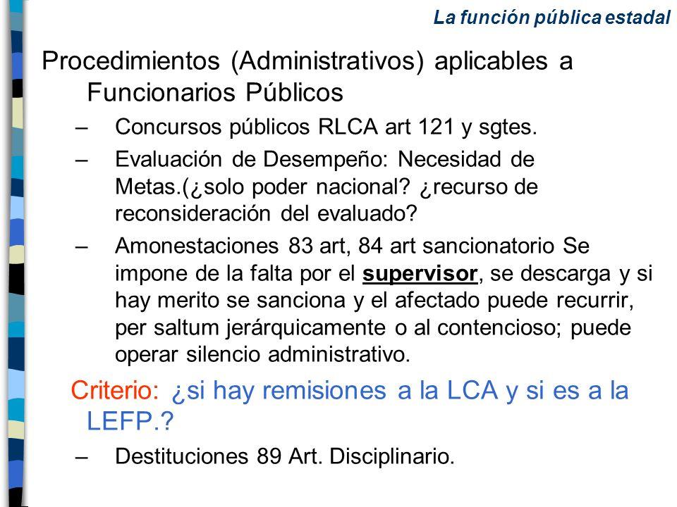 Procedimientos (Administrativos) aplicables a Funcionarios Públicos