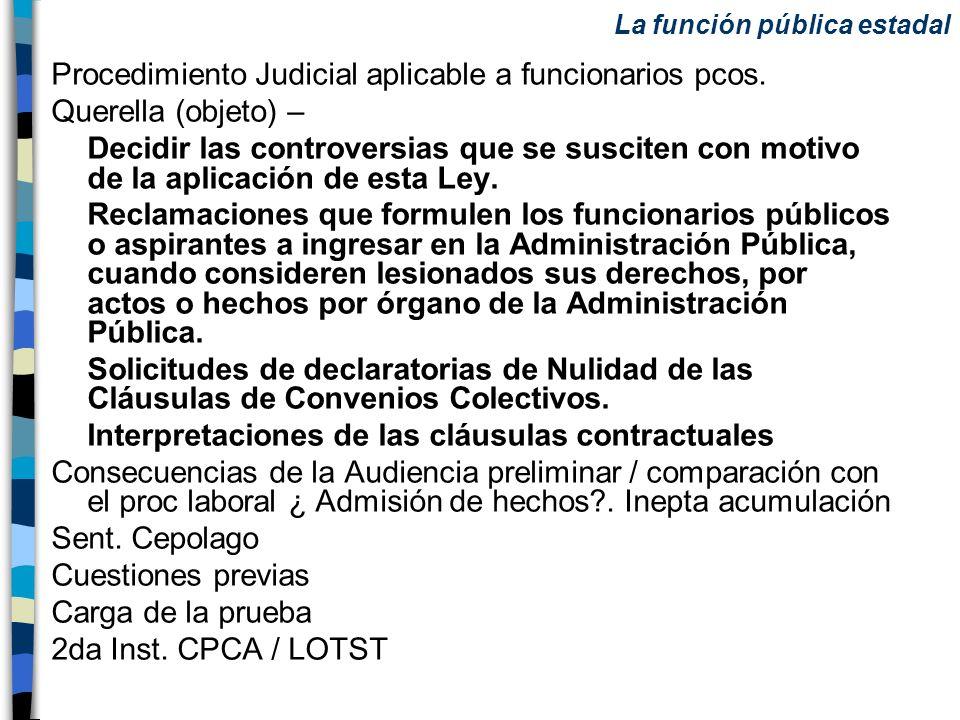 Procedimiento Judicial aplicable a funcionarios pcos.