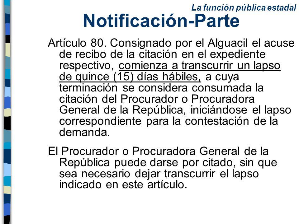 Notificación-Parte La función pública estadal.