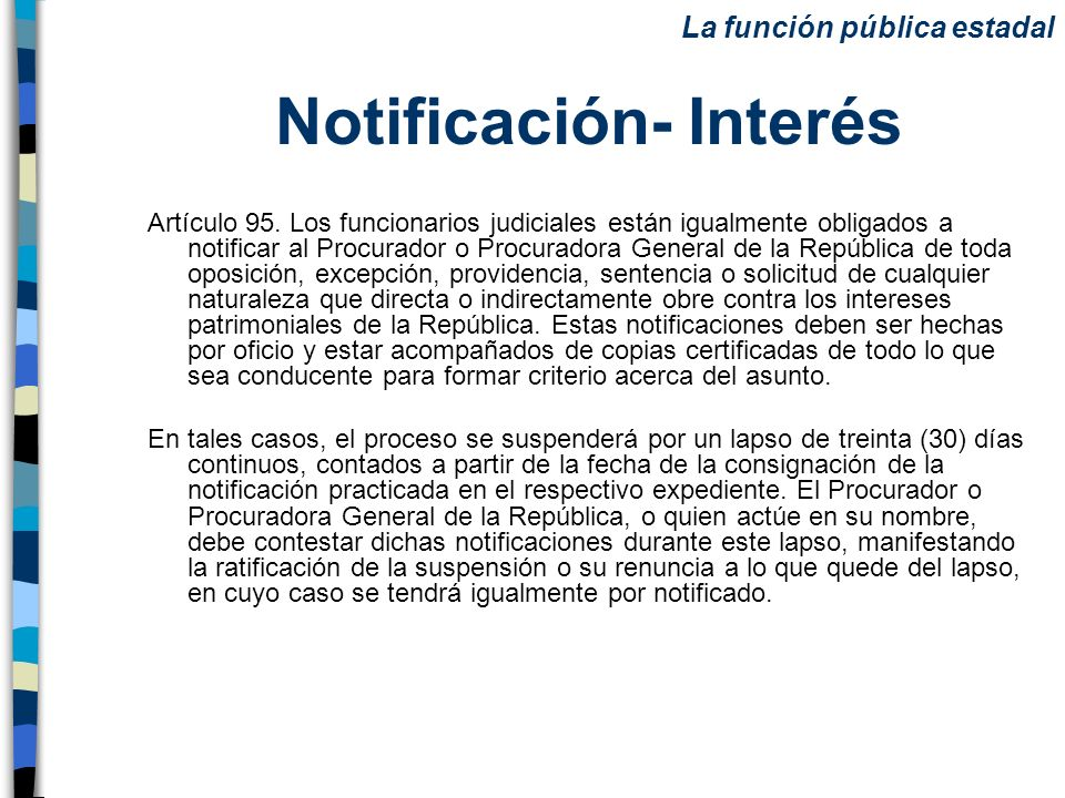 Notificación- Interés