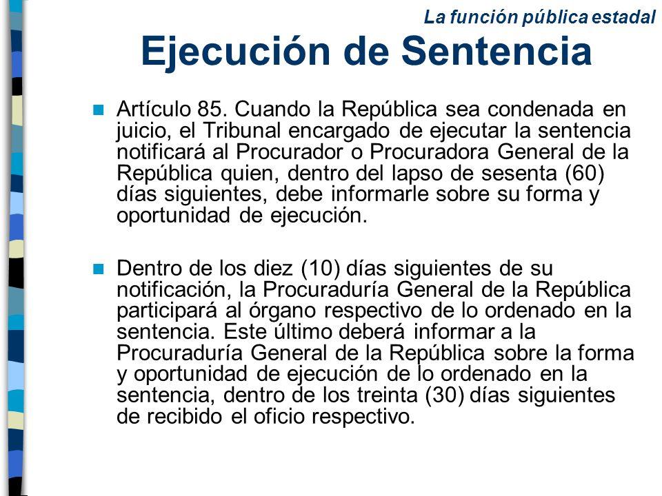 Ejecución de Sentencia