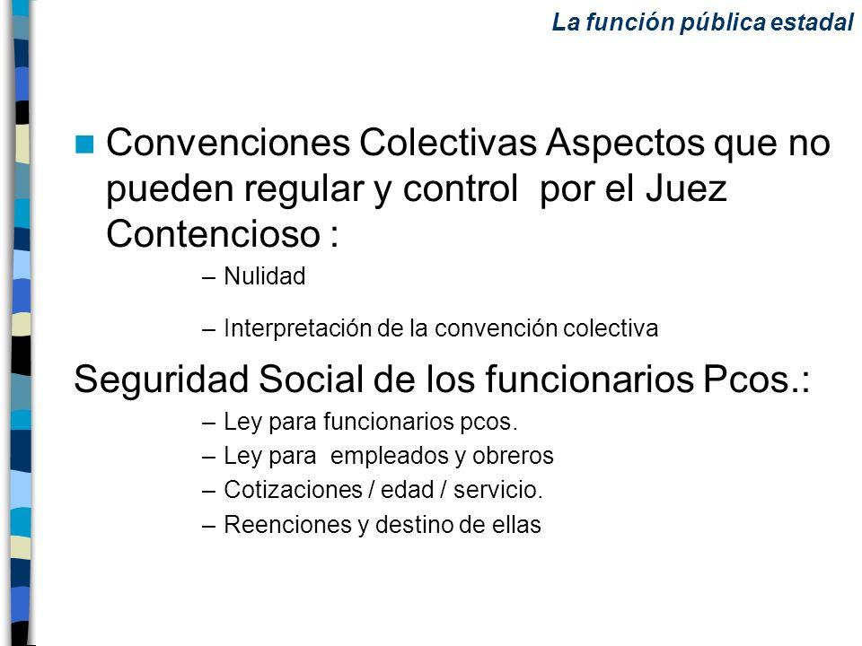 Seguridad Social de los funcionarios Pcos.: