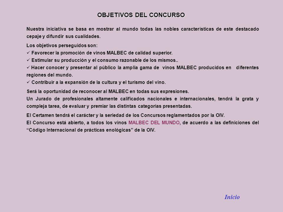 OBJETIVOS DEL CONCURSO