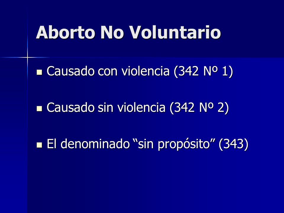 Aborto No Voluntario Causado con violencia (342 Nº 1)