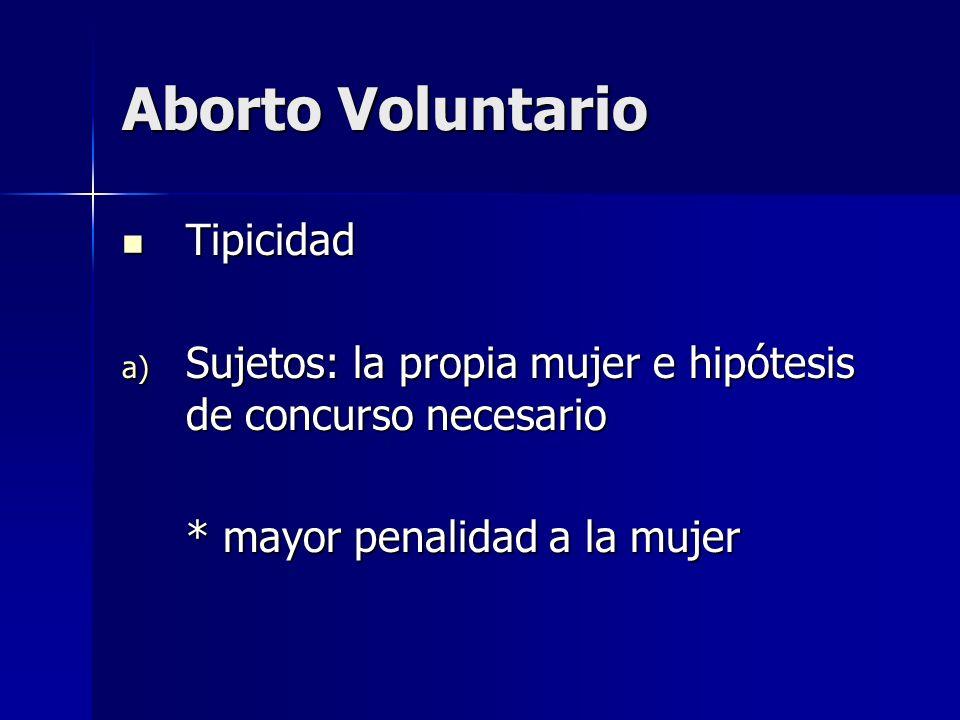 Aborto Voluntario Tipicidad