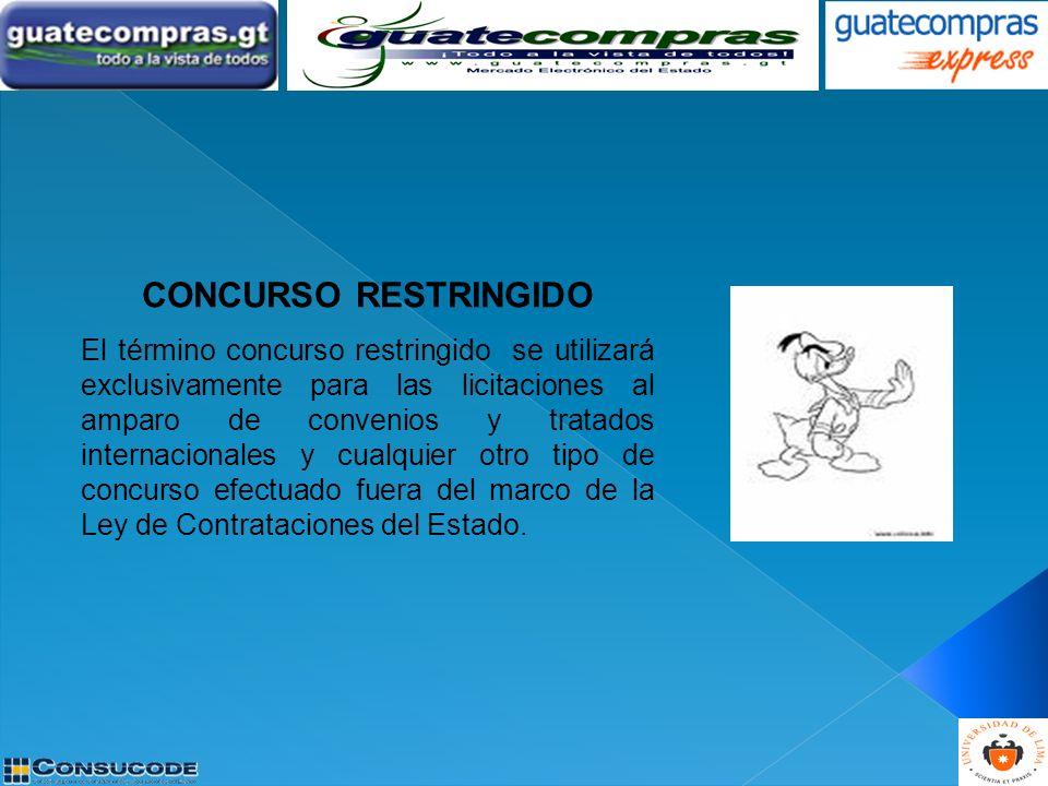 CONCURSO RESTRINGIDO