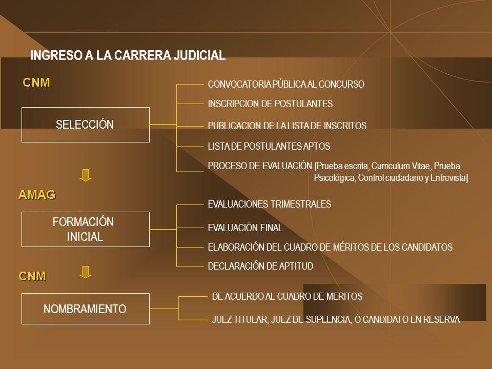 INGRESO A LA CARRERA JUDICIAL
