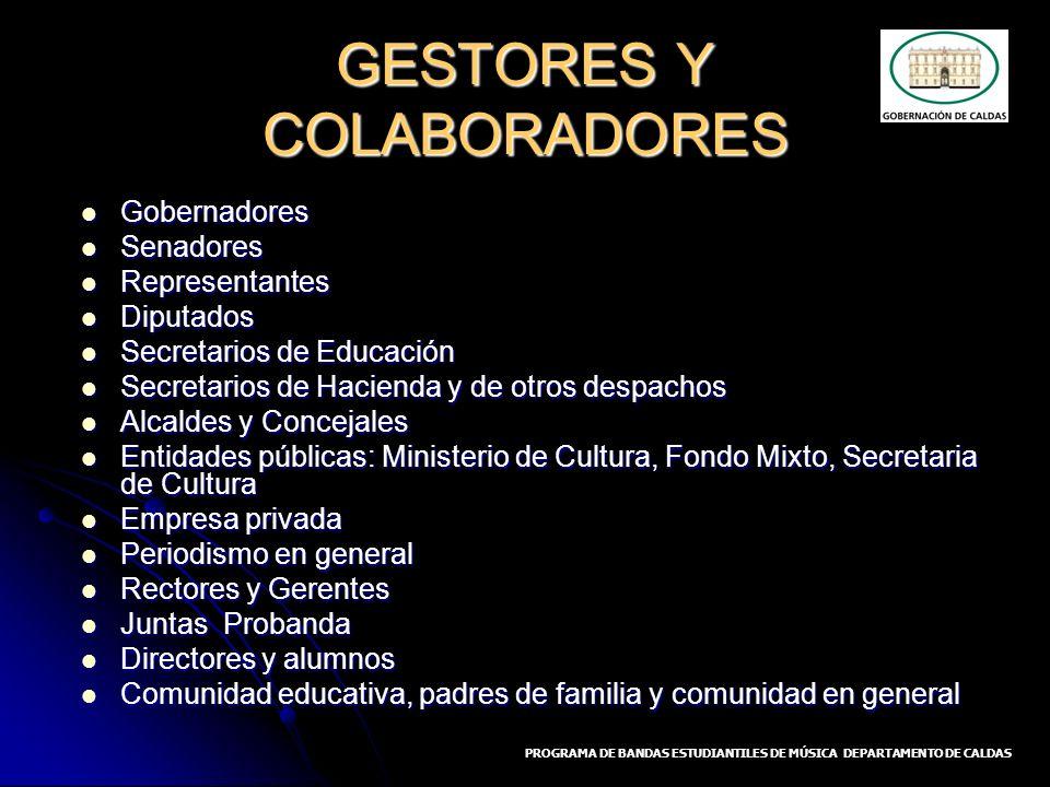 GESTORES Y COLABORADORES