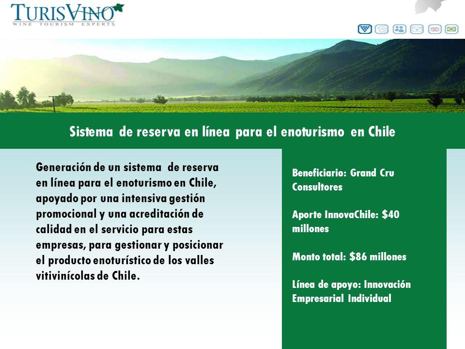 Sistema de reserva en línea para el enoturismo en Chile