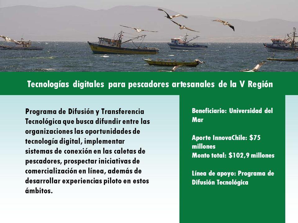 Tecnologías digitales para pescadores artesanales de la V Región