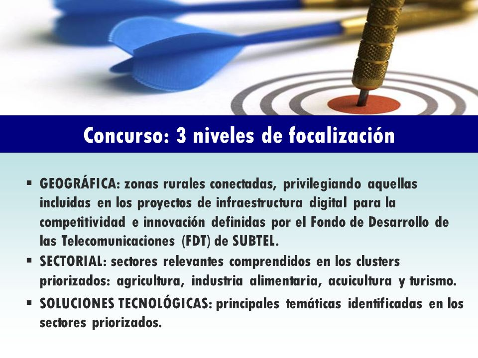 Concurso: 3 niveles de focalización