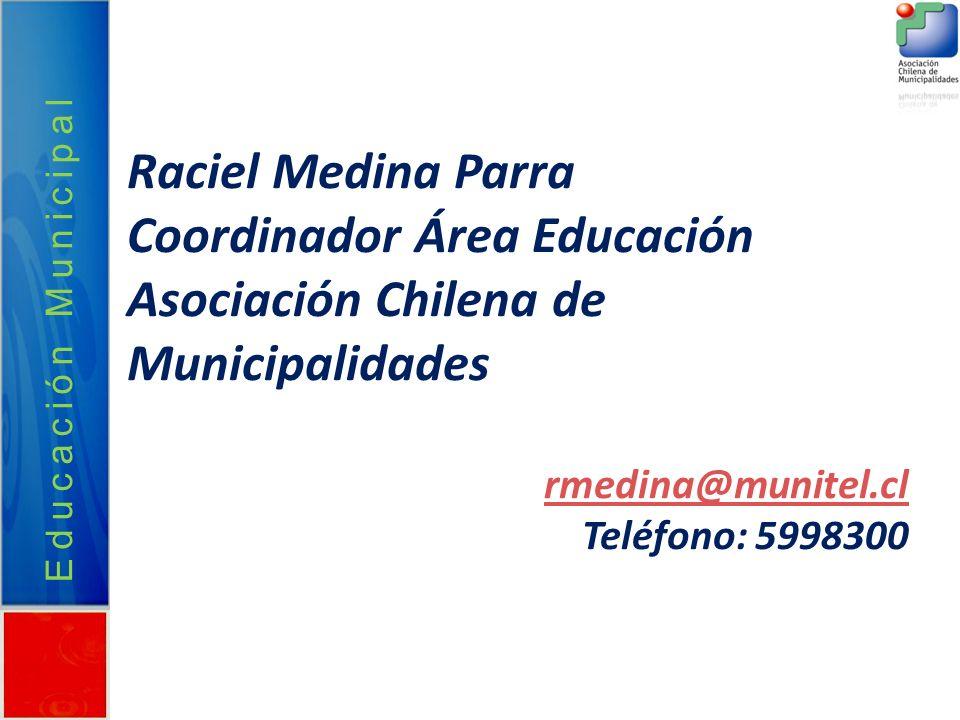 Coordinador Área Educación Asociación Chilena de Municipalidades
