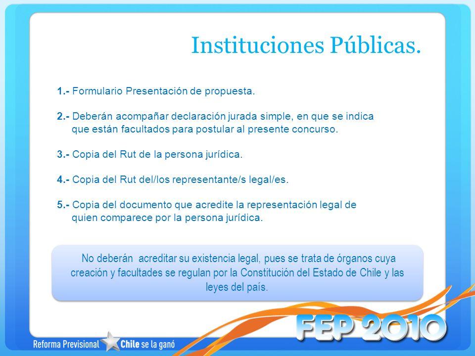Instituciones Públicas.