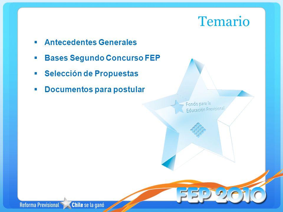 Temario Antecedentes Generales Bases Segundo Concurso FEP