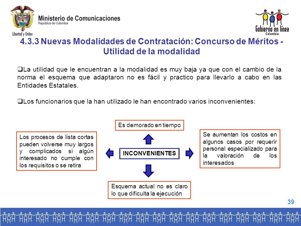4.3.3 Nuevas Modalidades de Contratación: Concurso de Méritos -