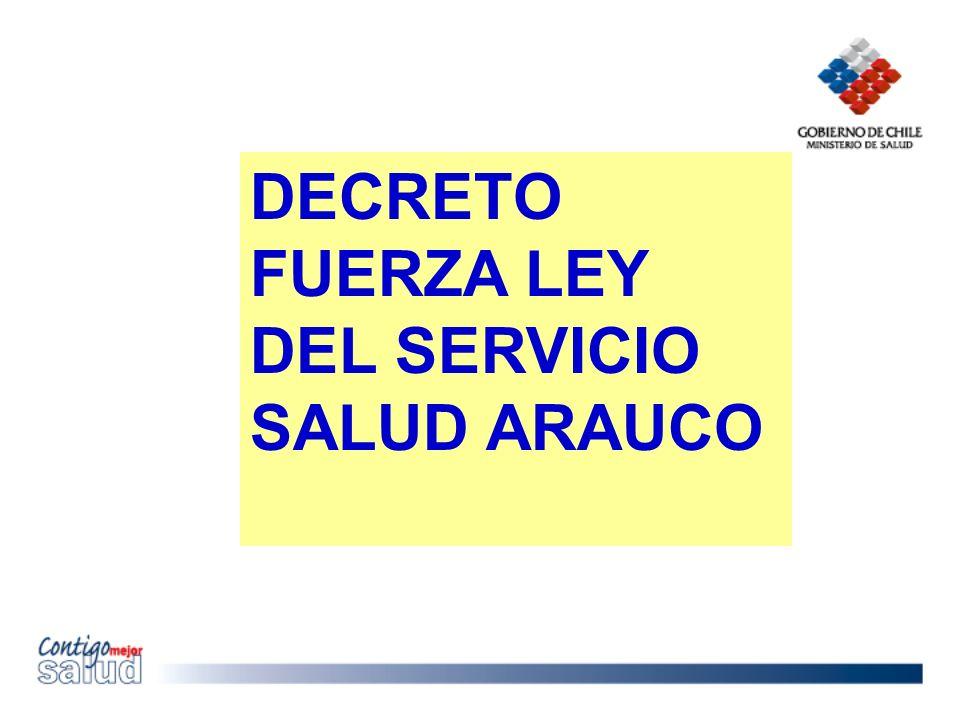 DECRETO FUERZA LEY DEL SERVICIO SALUD ARAUCO