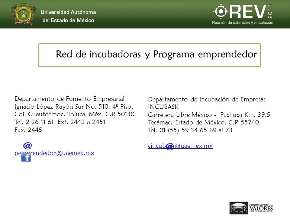 Red de incubadoras y Programa emprendedor