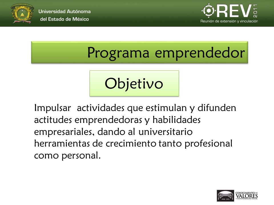 Programa emprendedor Objetivo