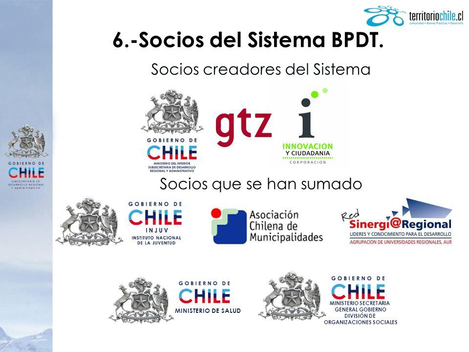 6.-Socios del Sistema BPDT.
