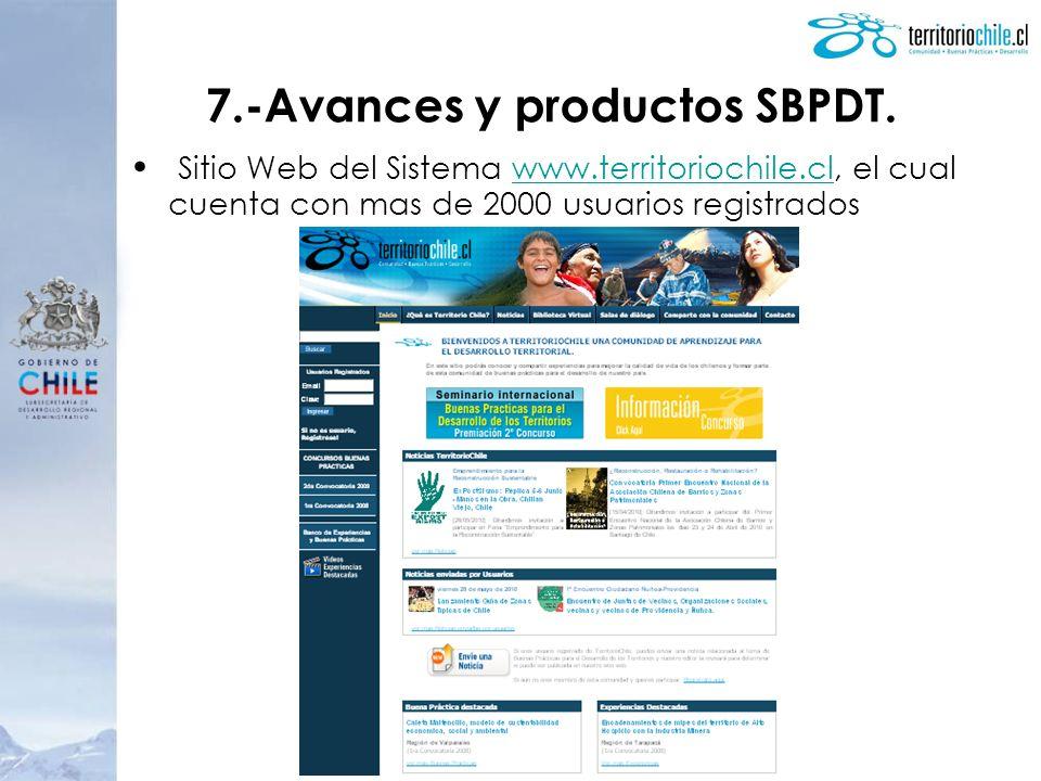 7.-Avances y productos SBPDT.