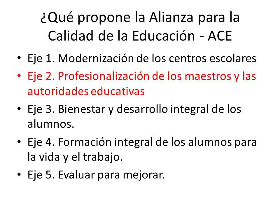 ¿Qué propone la Alianza para la Calidad de la Educación - ACE