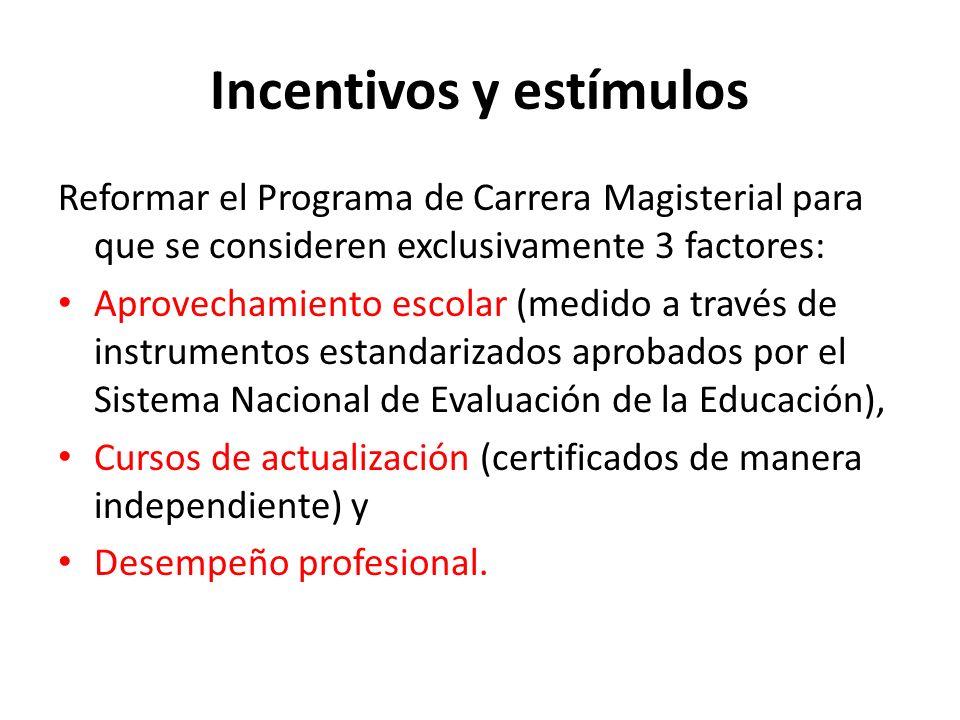 Incentivos y estímulos