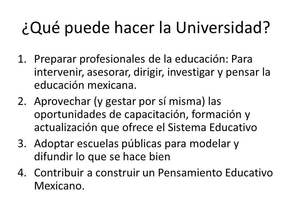 ¿Qué puede hacer la Universidad