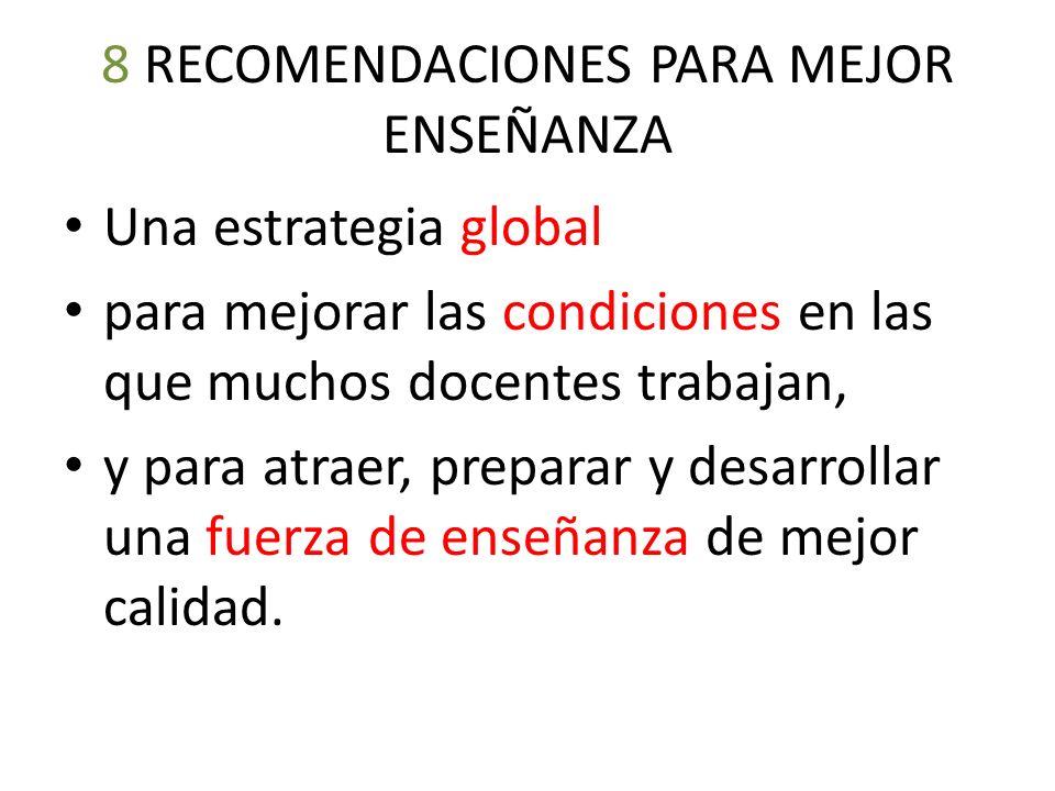 8 RECOMENDACIONES PARA MEJOR ENSEÑANZA