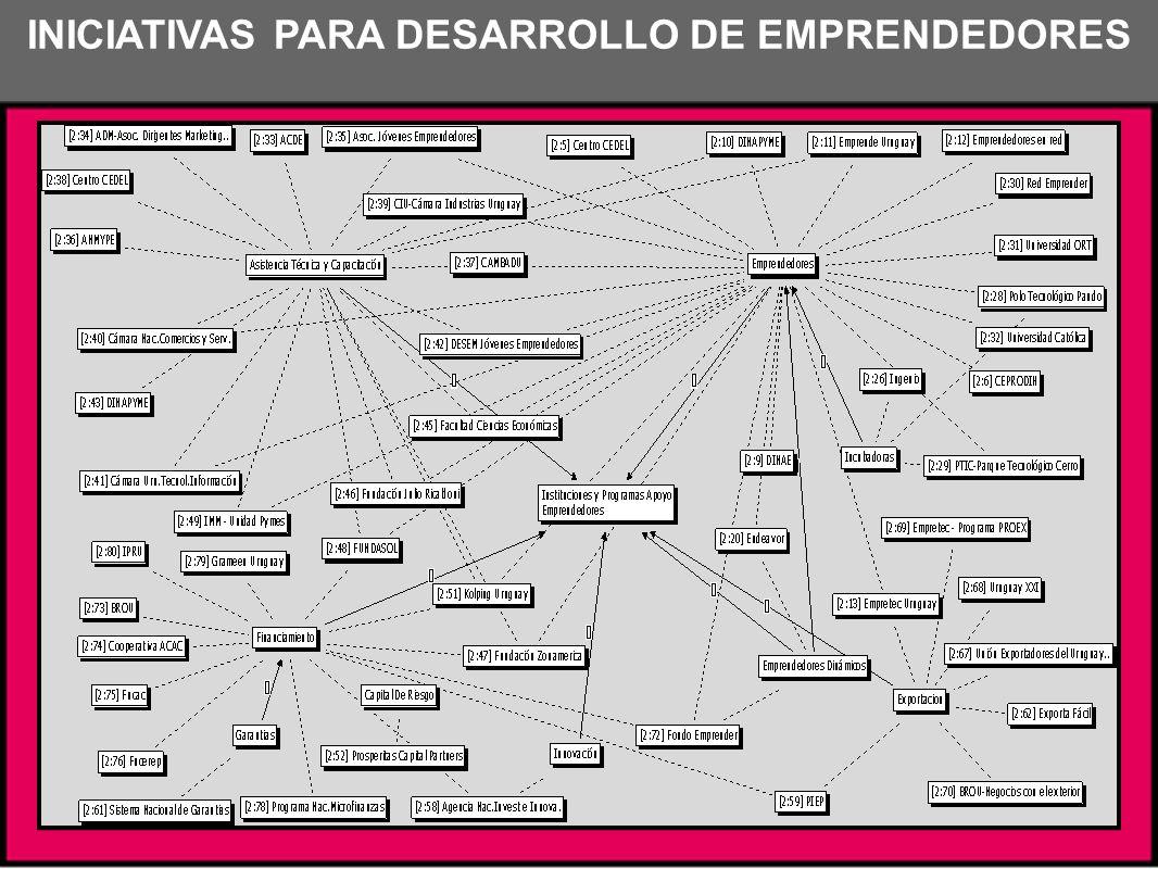INICIATIVAS PARA DESARROLLO DE EMPRENDEDORES