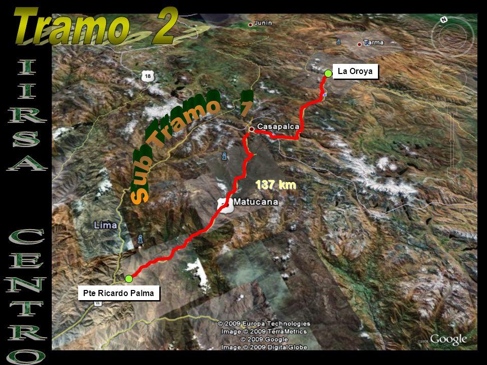 Tramo 2 La Oroya Sub Tramo 1 137 km IIRSA CENTRO Pte Ricardo Palma
