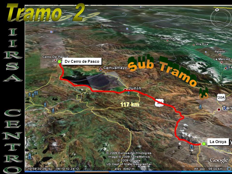 Tramo 2 Dv Cerro de Pasco Sub Tramo 3 IIRSA CENTRO 117 km La Oroya