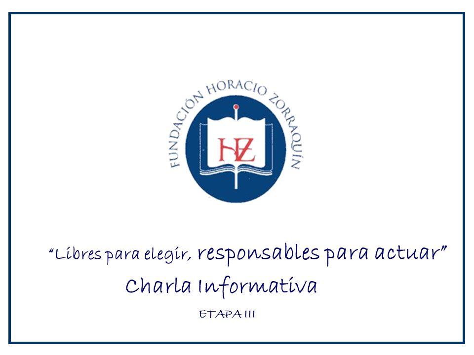 Charla Informativa Libres para elegir, responsables para actuar