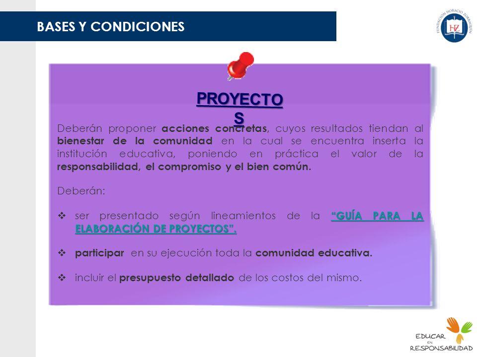 PROYECTOS BASES Y CONDICIONES