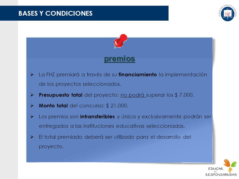 premios BASES Y CONDICIONES