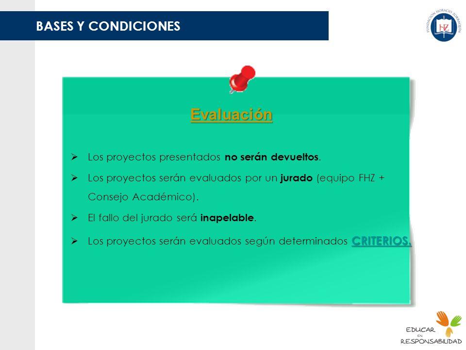 Evaluación BASES Y CONDICIONES