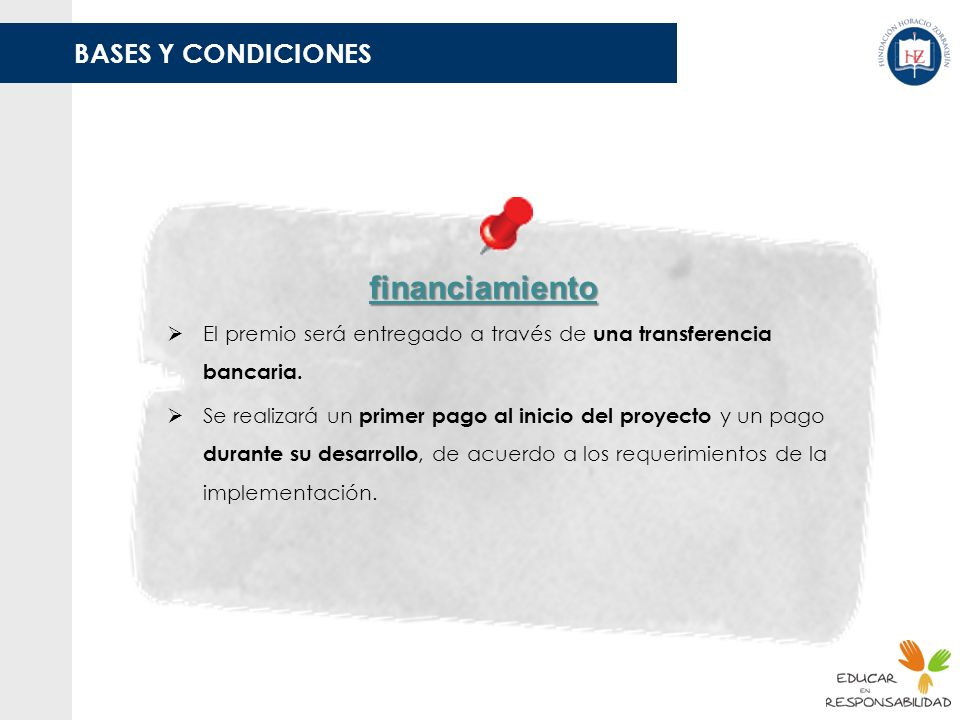 financiamiento BASES Y CONDICIONES