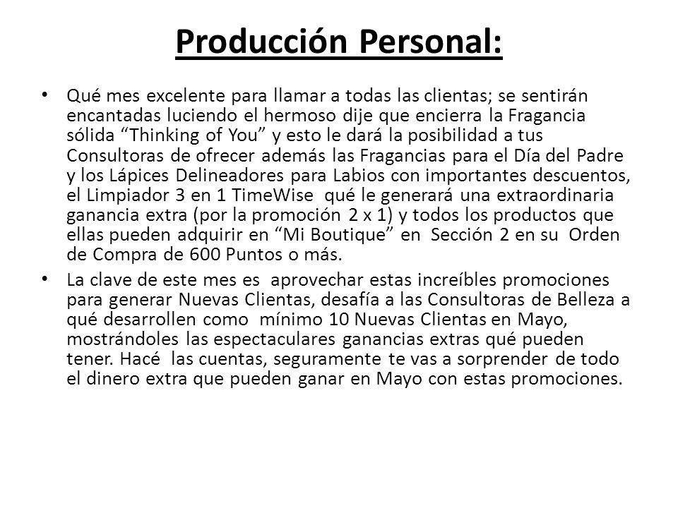 Producción Personal: