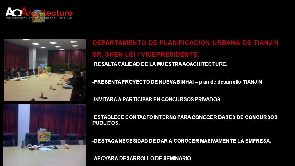 DEPARTAMENTO DE PLANIFICACION URBANA DE TIANJIN