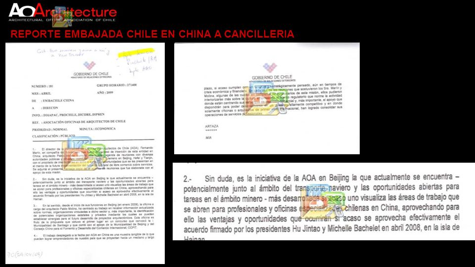 REPORTE EMBAJADA CHILE EN CHINA A CANCILLERIA