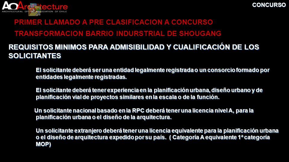 PRIMER LLAMADO A PRE CLASIFICACION A CONCURSO
