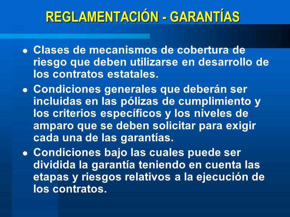 REGLAMENTACIÓN - GARANTÍAS