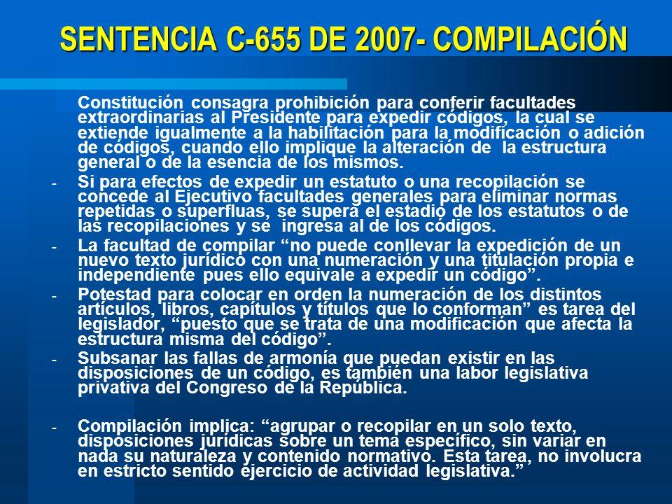 SENTENCIA C-655 DE 2007- COMPILACIÓN
