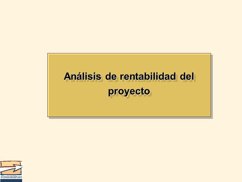 Análisis de rentabilidad del proyecto