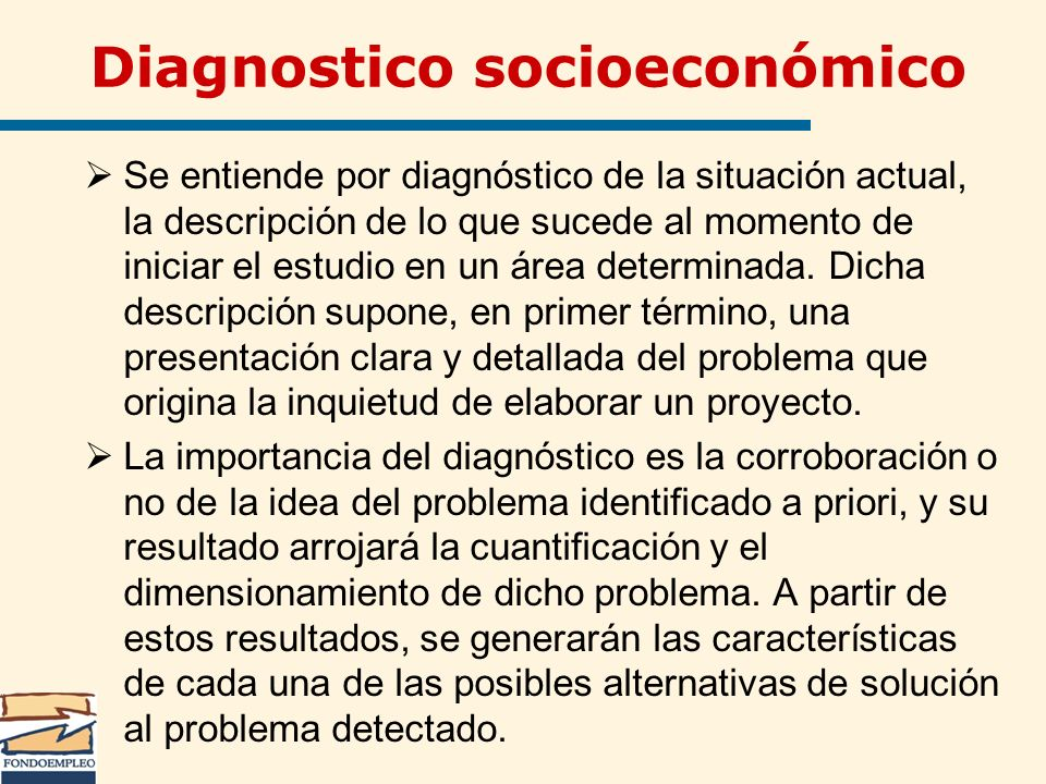 Diagnostico socioeconómico